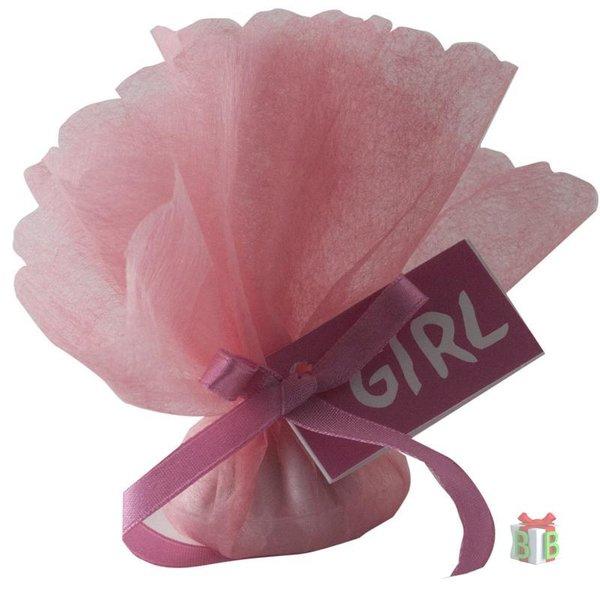 Roze tule met girl kaarjte