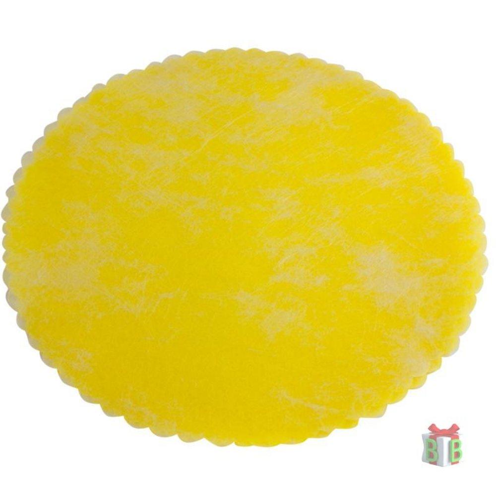 Tule rondjes geel