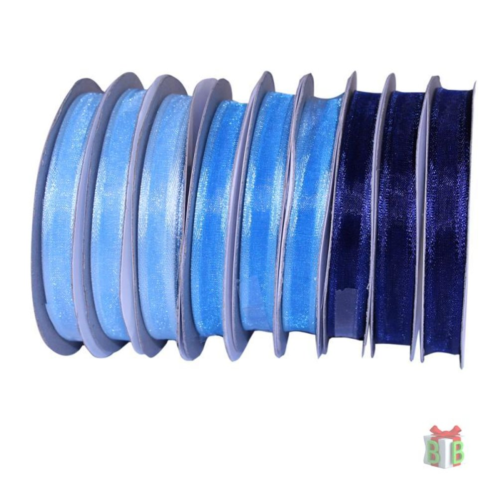 Organza lint blauw