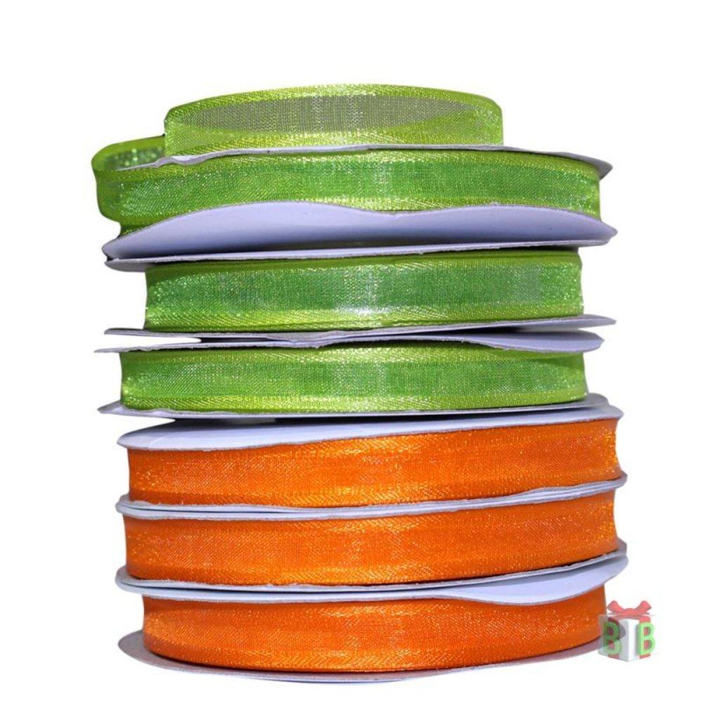 Organza lint oranje 10 mm