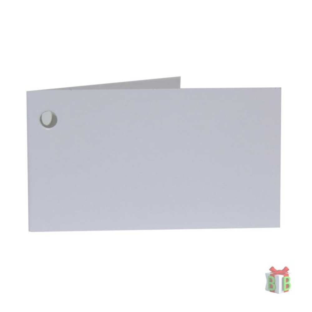 Wit mini kaartje