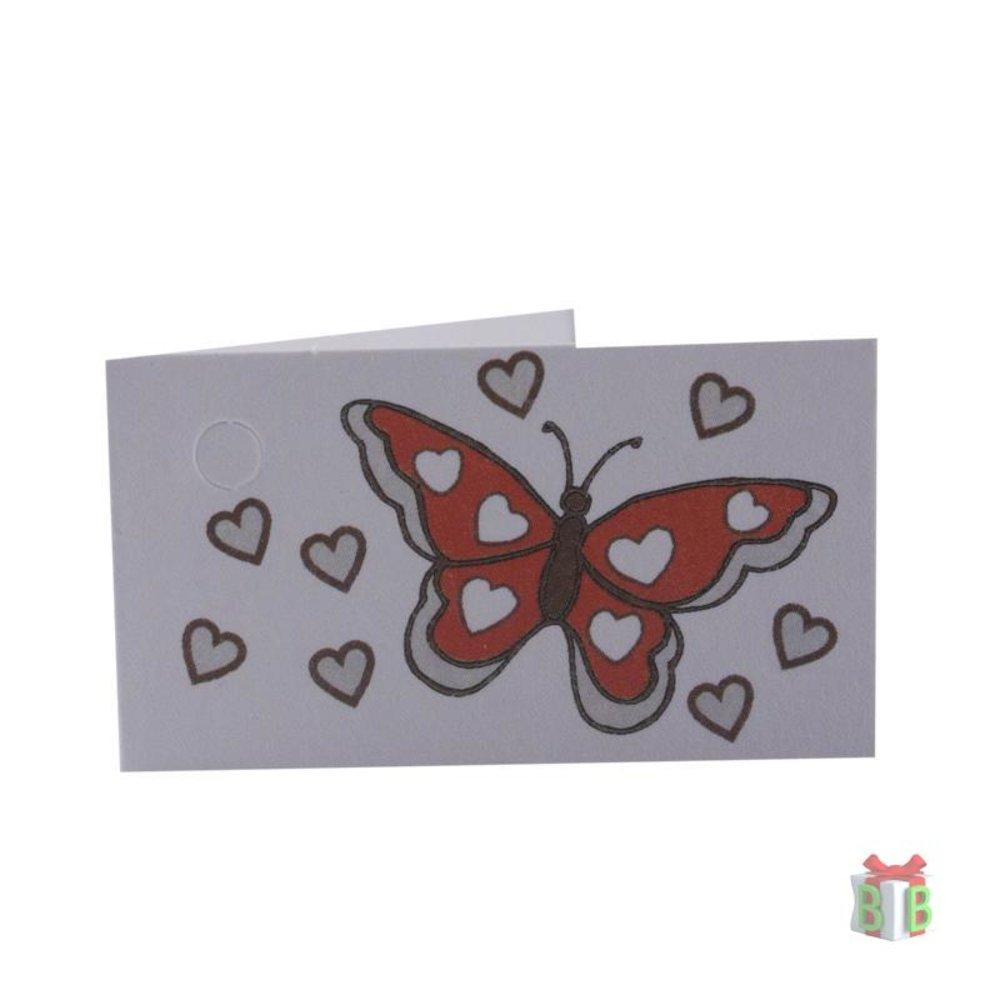 Vlinder minikaartje