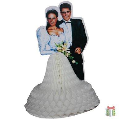 Decoratie bruidspaar getint uitvouwbaar