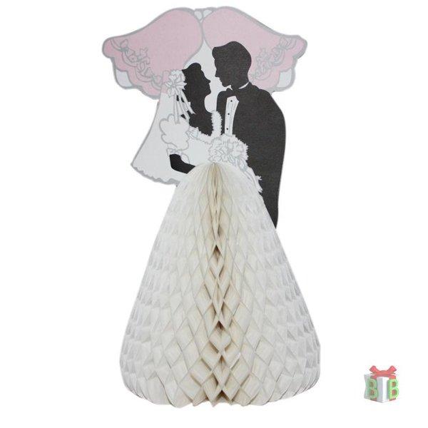 Tafeldecoratie bruidspaartje