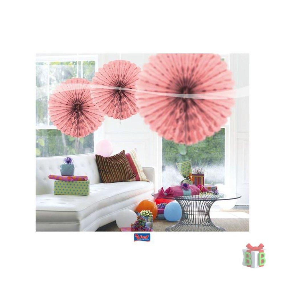 waaier honeycomb roze