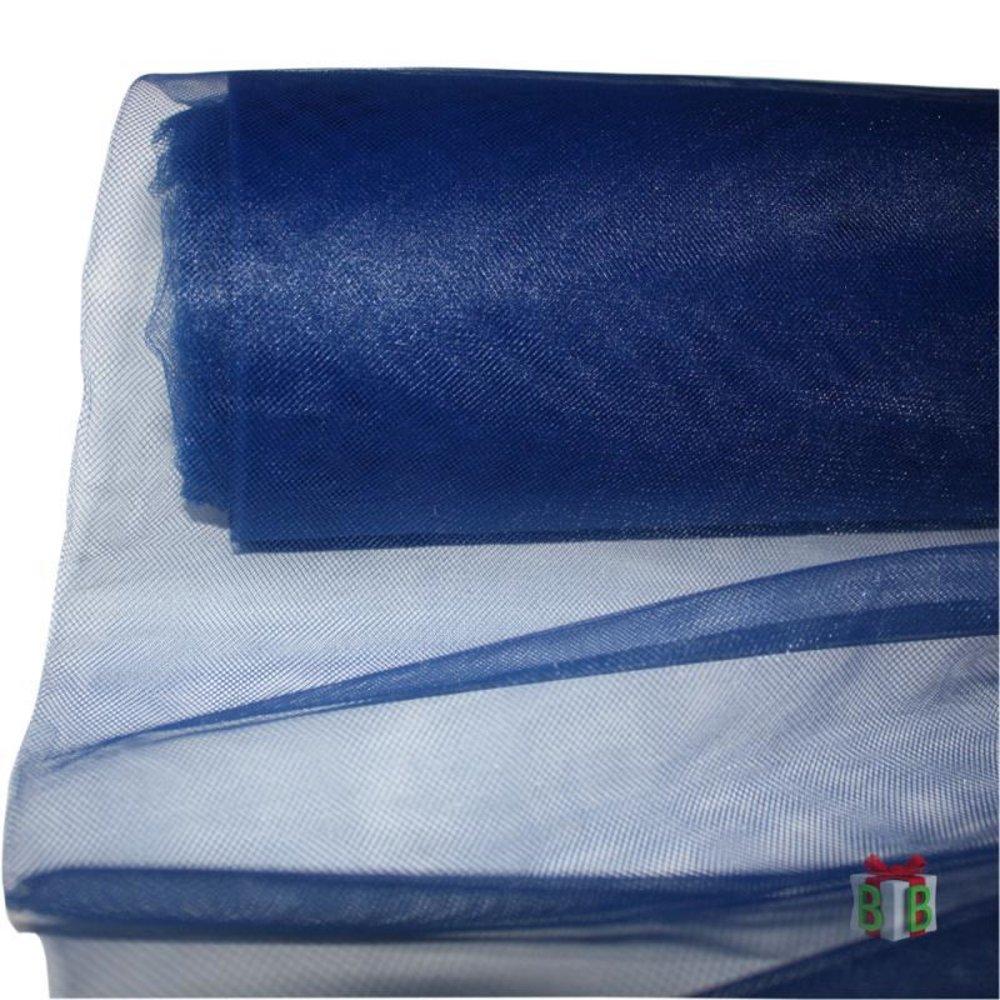 Donkerblauwe tule