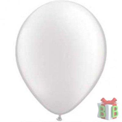 Ballonnen metallic wit-25 stuks
