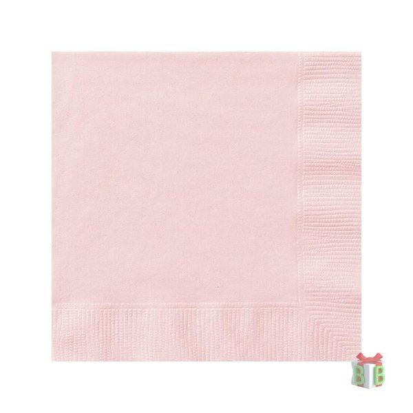 licht roze servetten
