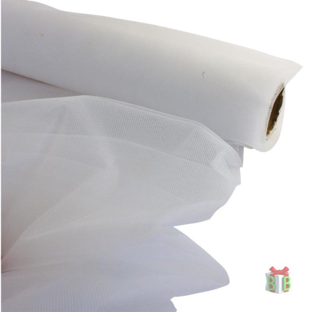 Witte tule per meter