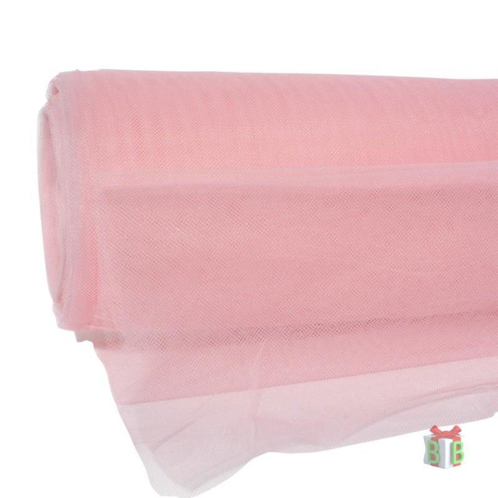 Tule stof roze