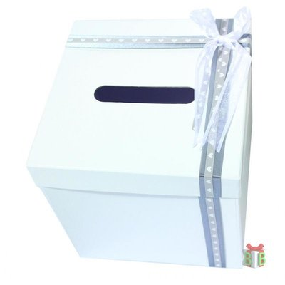 Enveloppendoos wit vierkant gedecoreerd