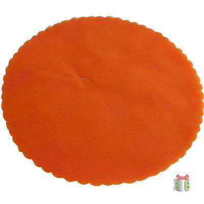Ronde tule oranje -23 cm