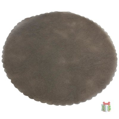 Ronde tule grijs- 23 cm