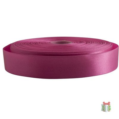 Satijn fuchsia lint 25 mm