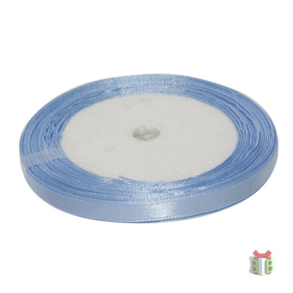 Licht blauw satijn lint 6 mm