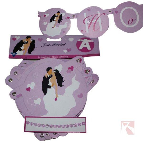 Huwelijksslingers lila