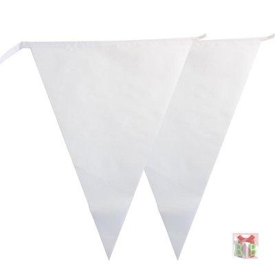 vlaggenlijn wit 10m