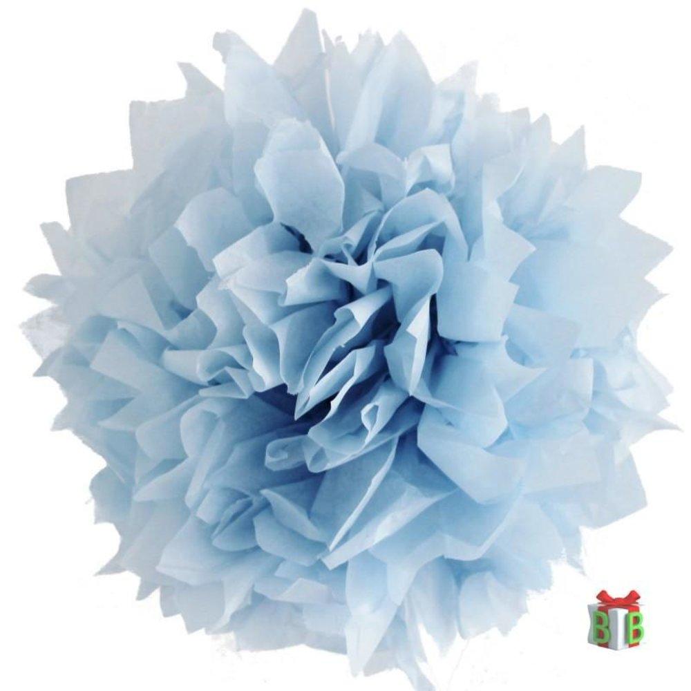 pompom licht blauw set