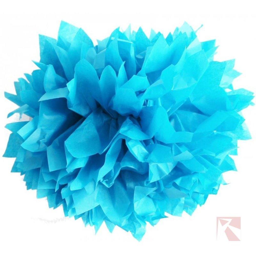 pompoms azuurblauw