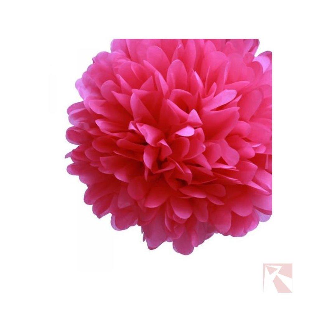 fuchsia roze pompom