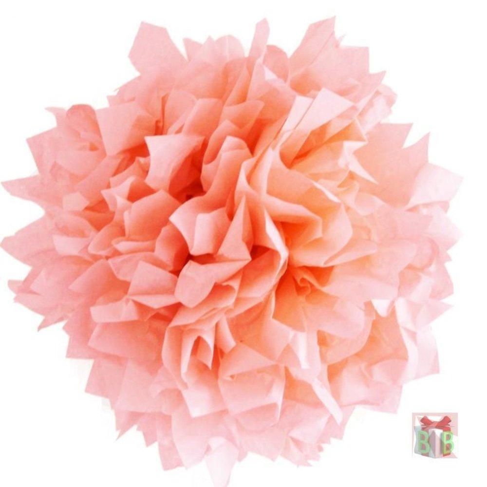 zalm roze pompoms zalm