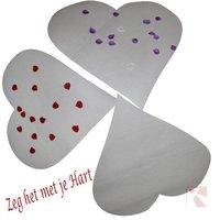 Hart wit decoratie hart kleine afbeelding