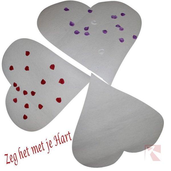 Hart wit decoratie hart