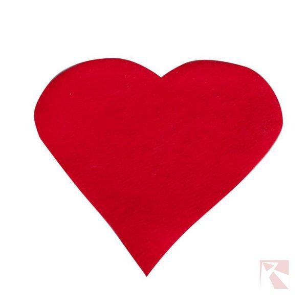 hart rood naaldvilt