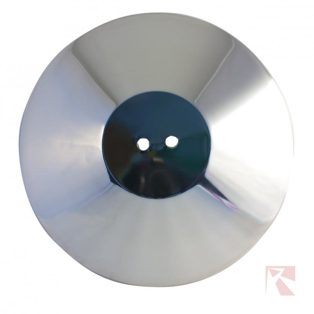 Afzetpaal deksel chroom 2