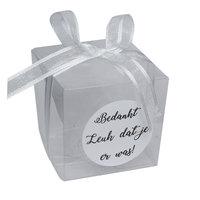 Doosje kubus transparant 5 x 5 x 5 cm kleine afbeelding