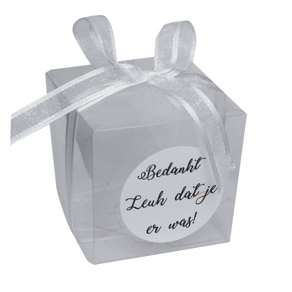 Doosje kubus transparant 5 x 5 x 5 cm