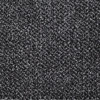 Droogloopmat gemeleerd zwart groot kleine afbeelding