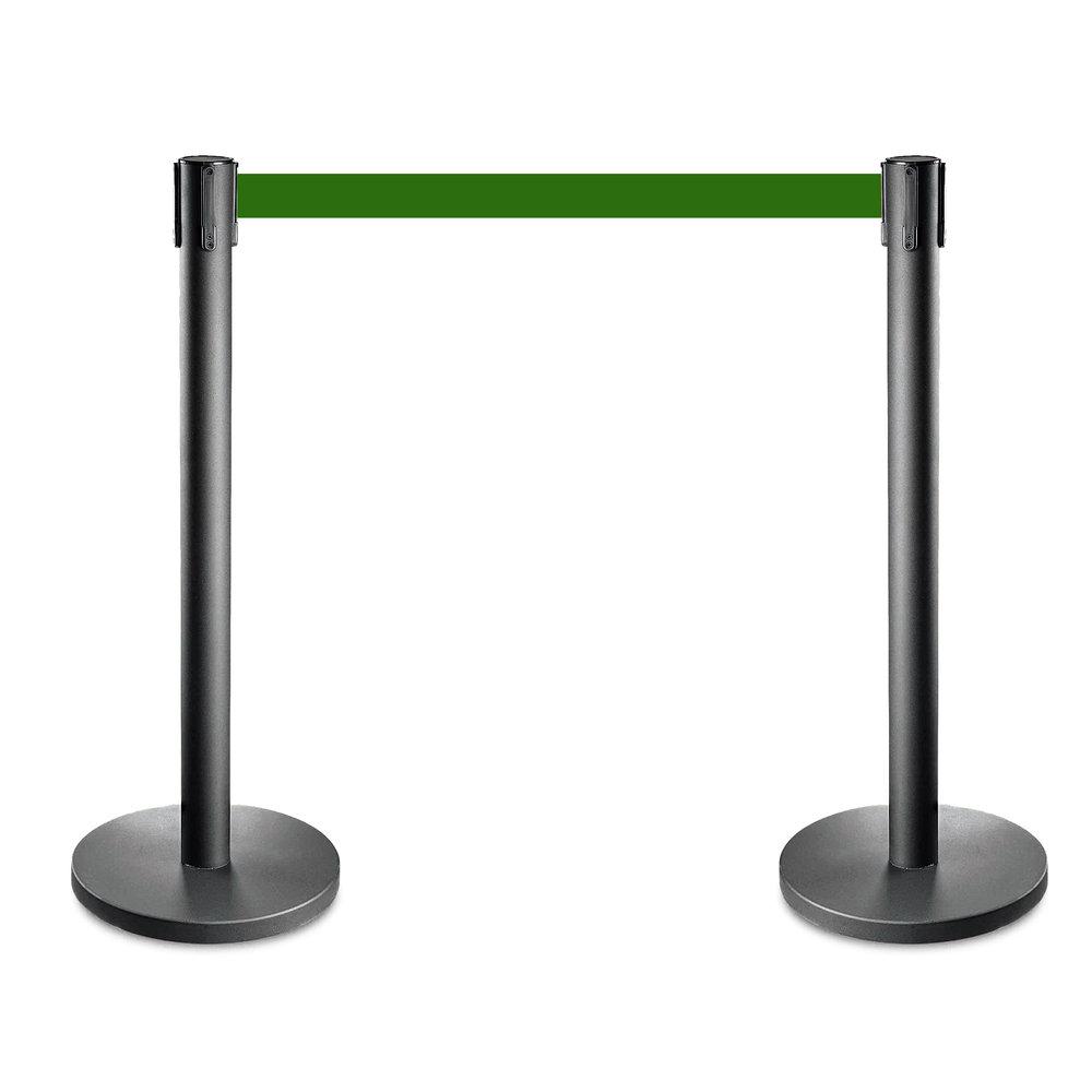 Afzetpalen zwart met groen trekband