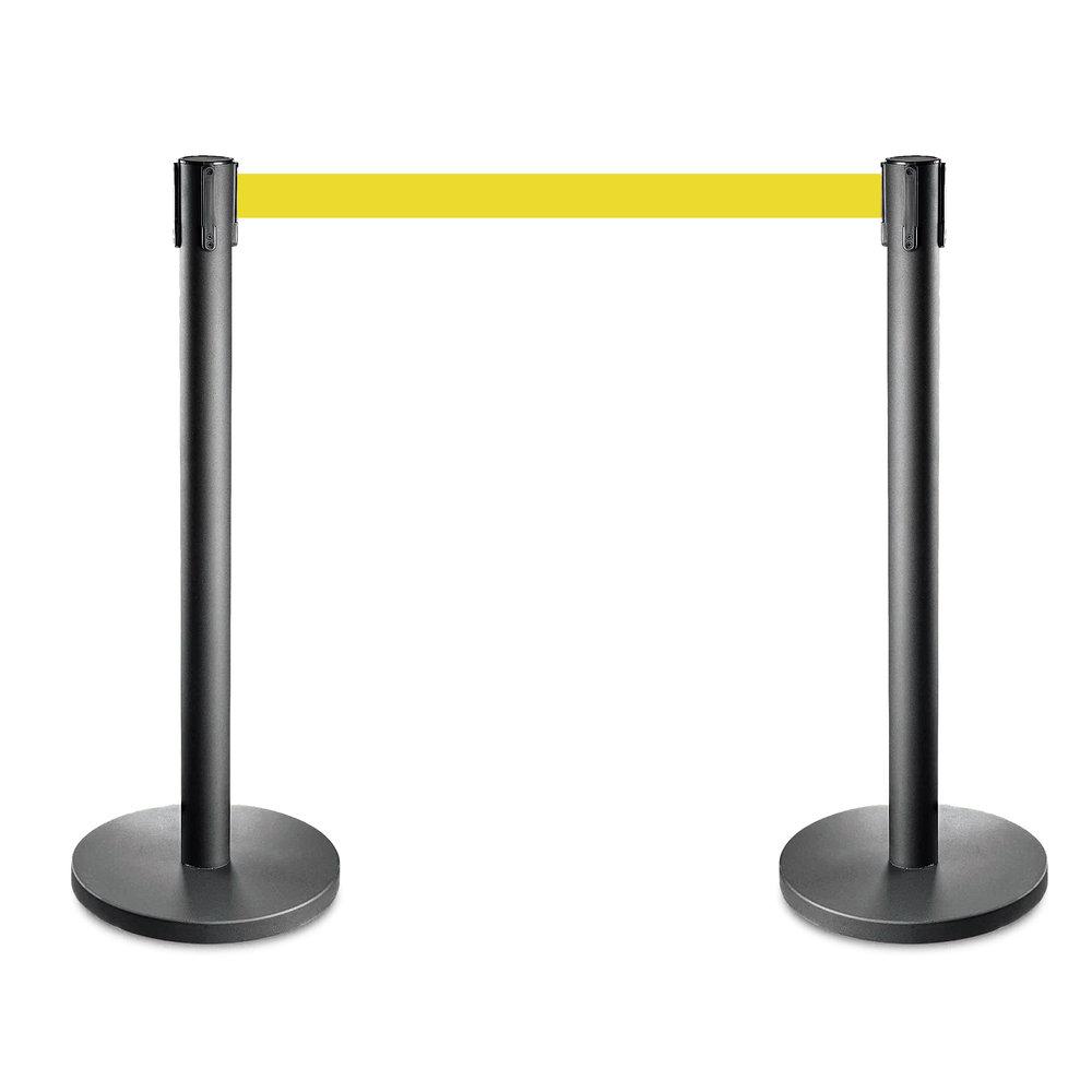 Afzetpalen set zwart met geel trekband