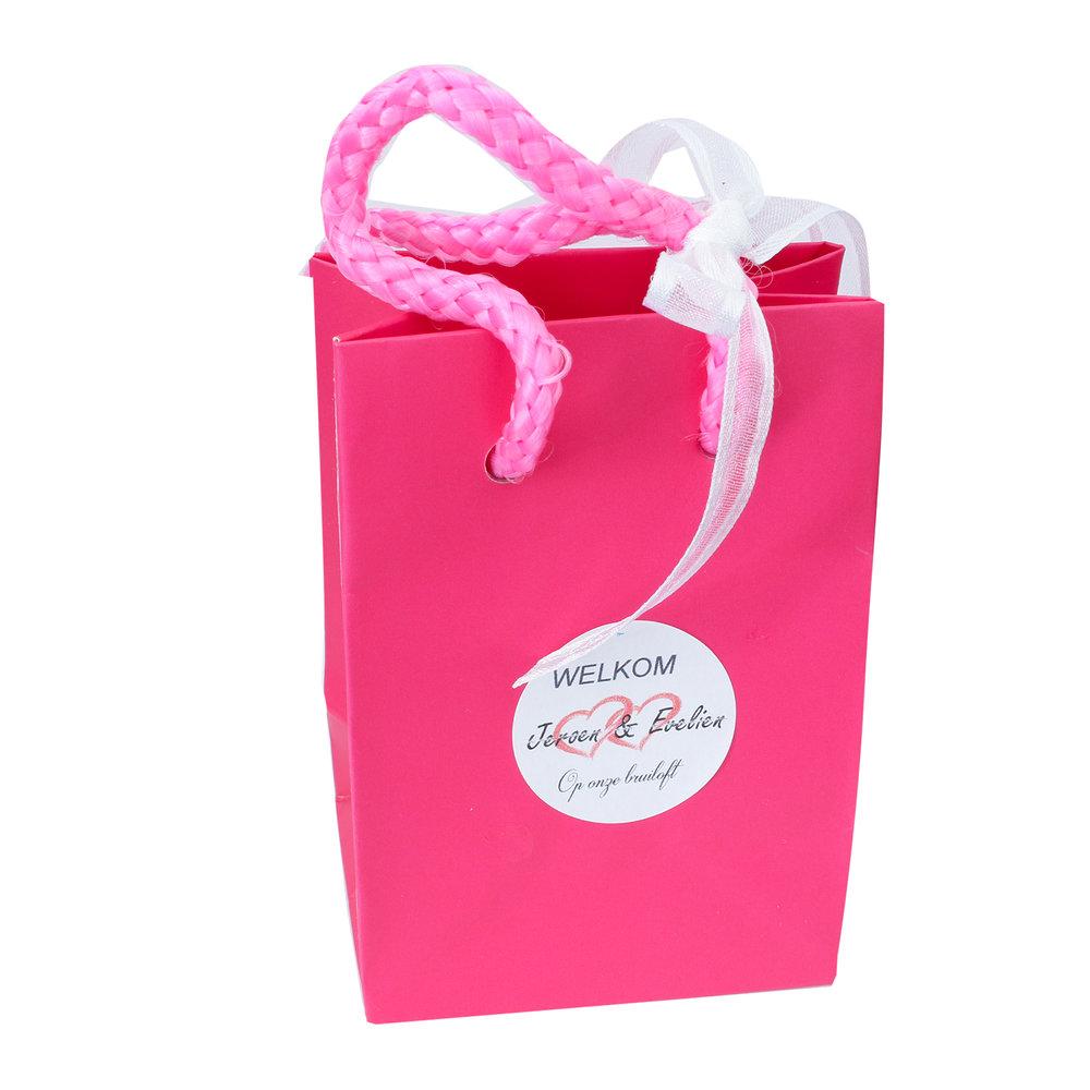 Klein tasje roze voor bruiloft