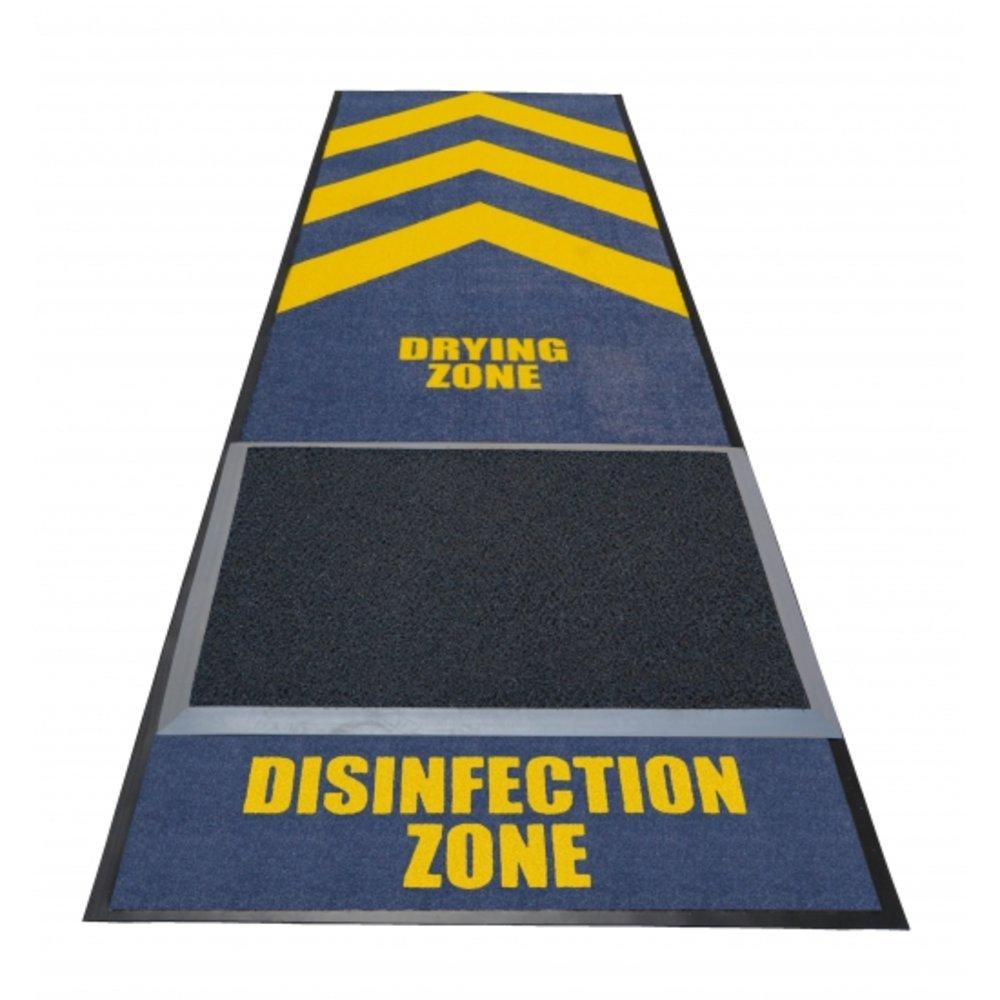 Deurmat desinfectie zone