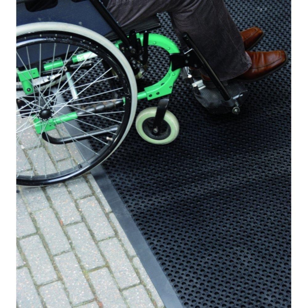 Entreemat rubber, gemakkelijk te betreden met rolstoel