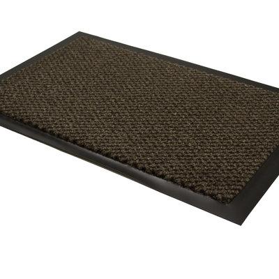 Droogloopmat bruin 60 x 80 cm zijaanzicht