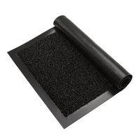 Deurmat zwart 90 x 150 verona bovenkant kleine afbeelding