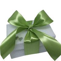 Satijn groen breed lint 40 mm kleine afbeelding