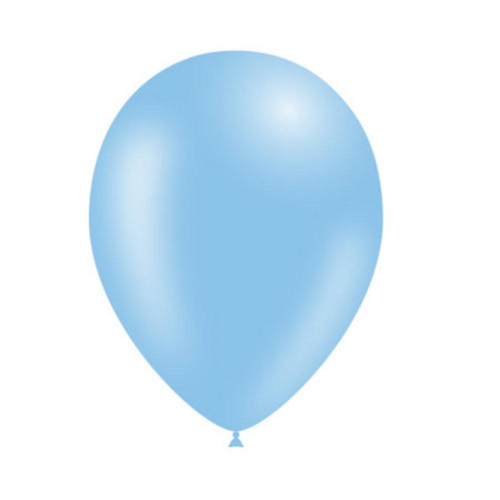 Lichtblauwe ballonnen 30cm blueflower