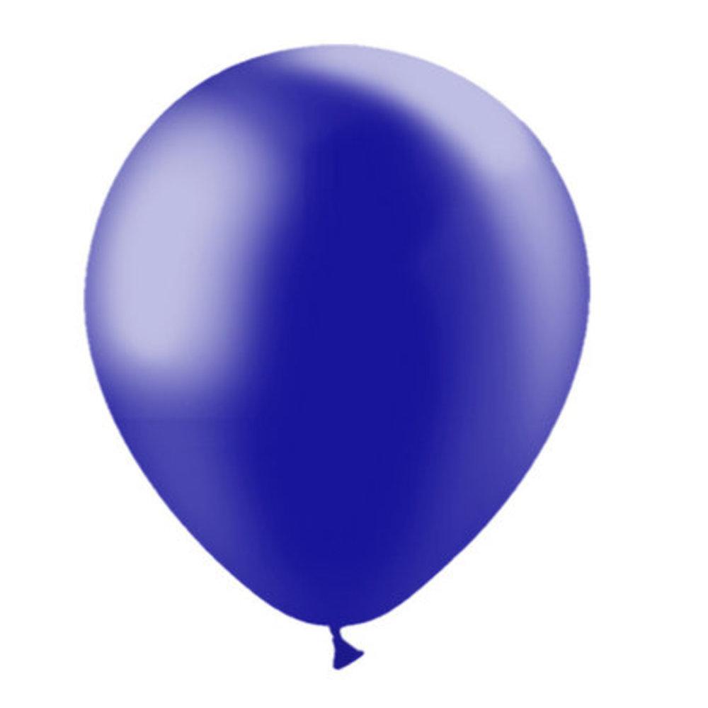 Metalic blauwe ballonnen 30cm blueflower
