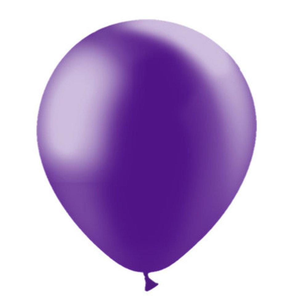 Ballonnen paars metallic 30cm blueflower