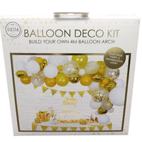 Ballon deco kit goud kleine afbeelding