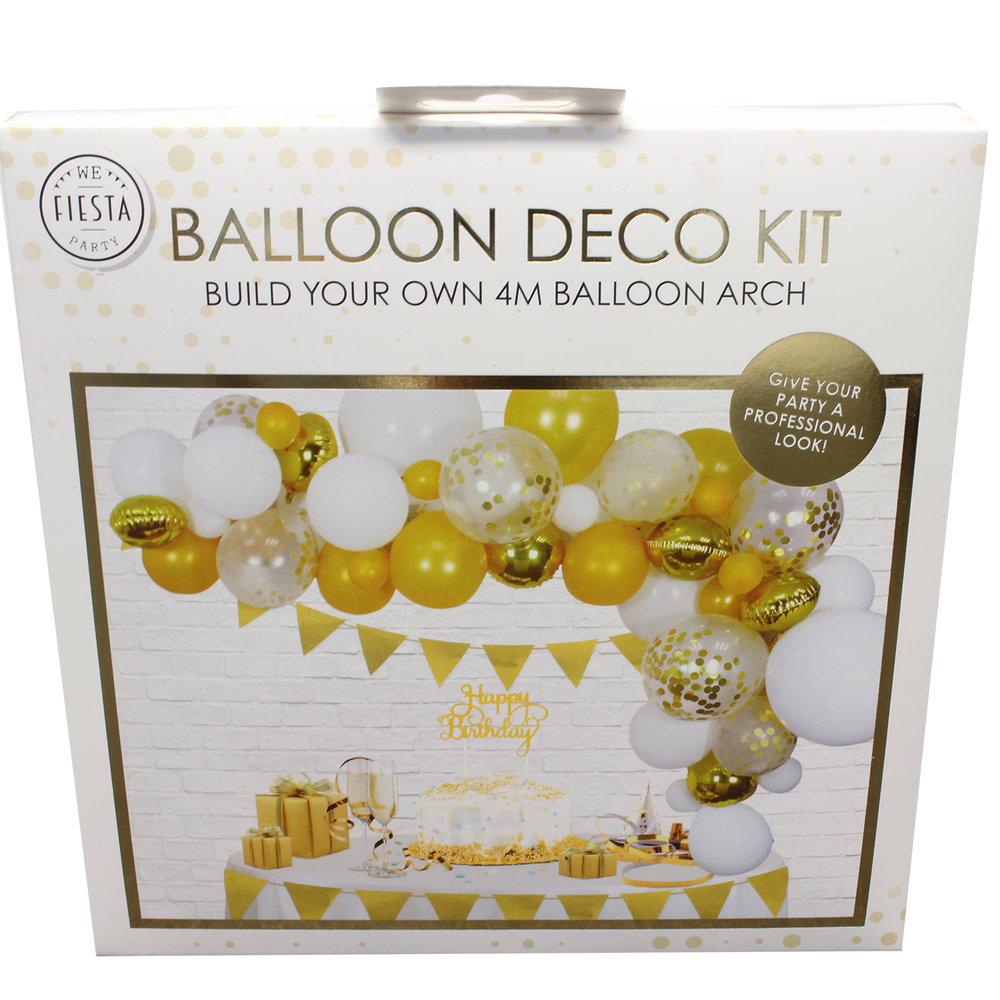 Ballon deco kit goud