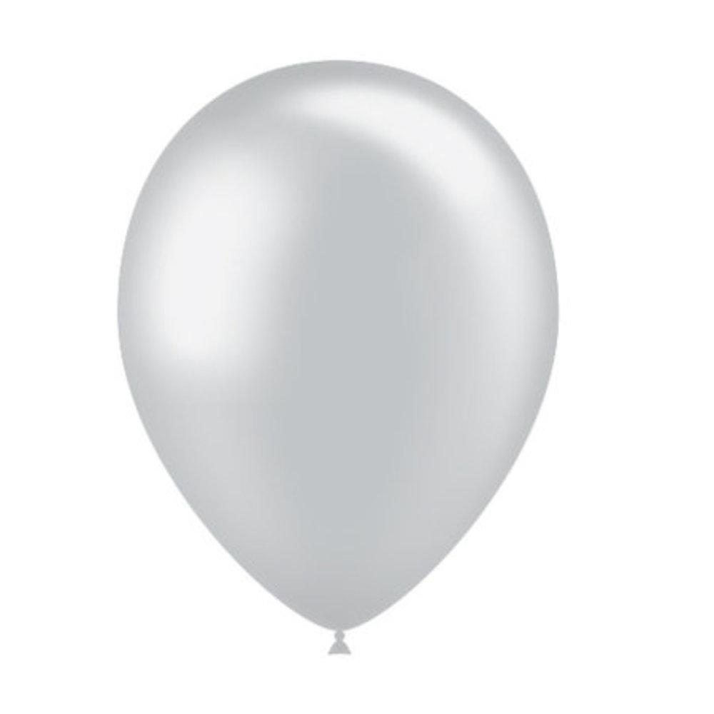 Ballonnen zilver metallic blueflower