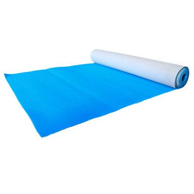 Elektrisch blauwe luxe loper 2 meter breed