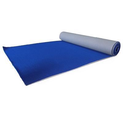 Luxe blauwe loper 2 meter breed