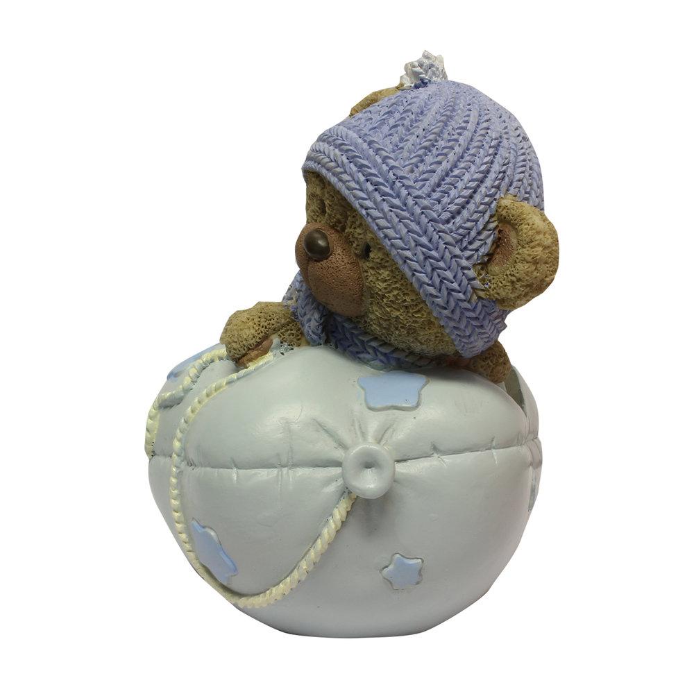 Babycadeau spaarpot blauw