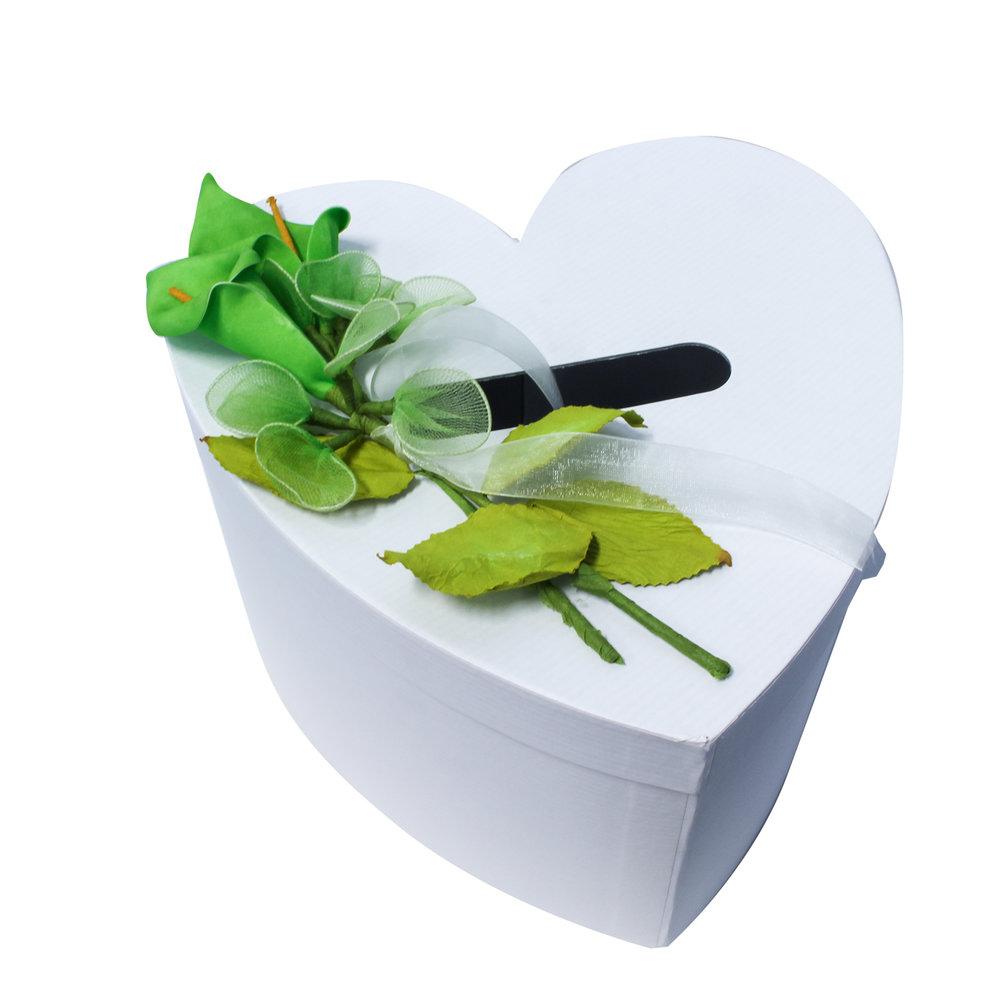 Enveloppendoos Wit hart groen